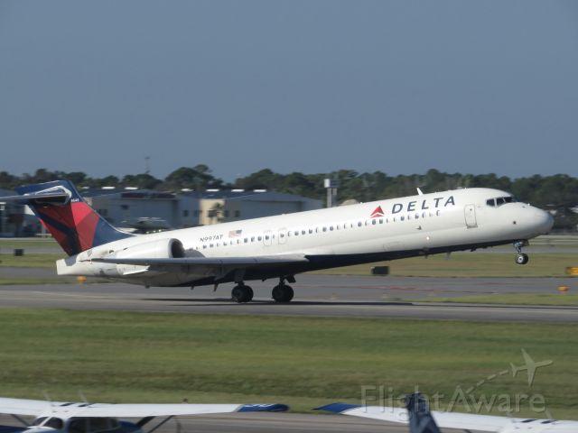 N997AT — - A rare runway 34 departure.