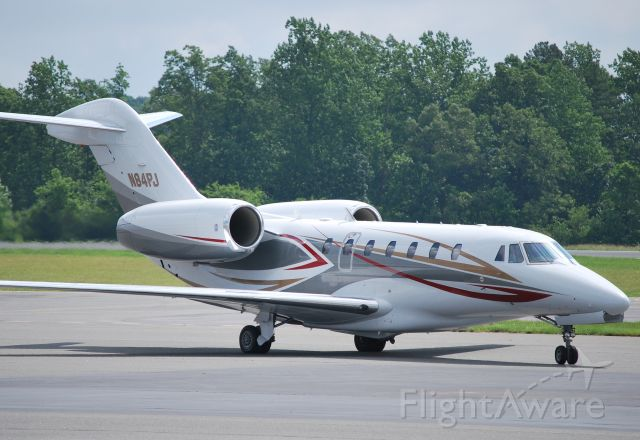 """Cessna Citation X (N84PJ) - HAMPTON AIRWAYS INC (Papa Johns Pizza) arriving at KJQF. """"Papas in the house"""" for the Coca-Cola 600 - 5/30/10"""
