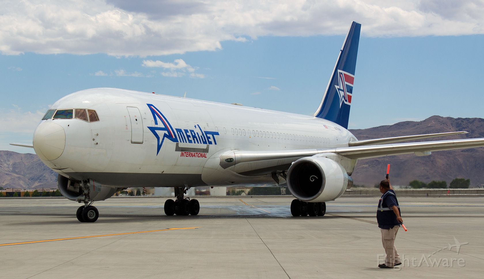 BOEING 767-200 — - Taxiing to the cargo ramp at Reno Tahoe International.