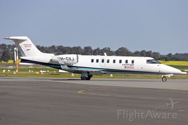 Learjet 45 (VH-CXJ) - CMS Air Ambulance (VH-CXJ) Bombardier Learjet 45 taxiing at Wagga Wagga Airport