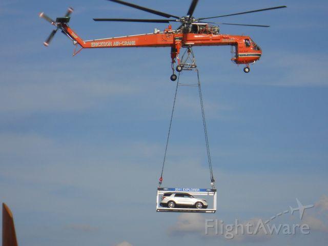 N158AC — - An Erickson  Air Crane flying in the 2011 Ford Explorer at Oshkosh 2010.