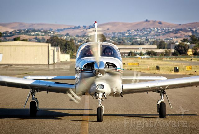 Piper Cherokee Arrow (N423CC) - 423CC taxing in after arrival from KSBA.