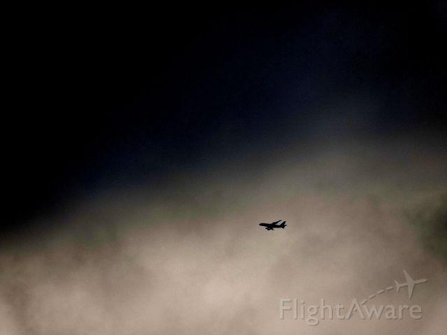 Airbus A380-800 (A6-EDD) - Emirates flight 434 to Brisbane passes bad weather.