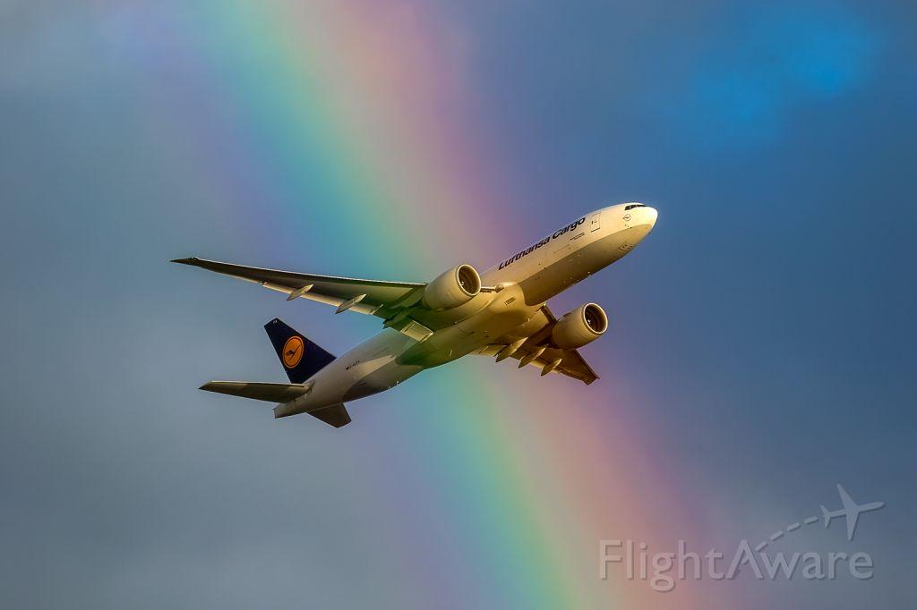 Boeing 777-200 (D-ALFA) - coloured by a rainbow
