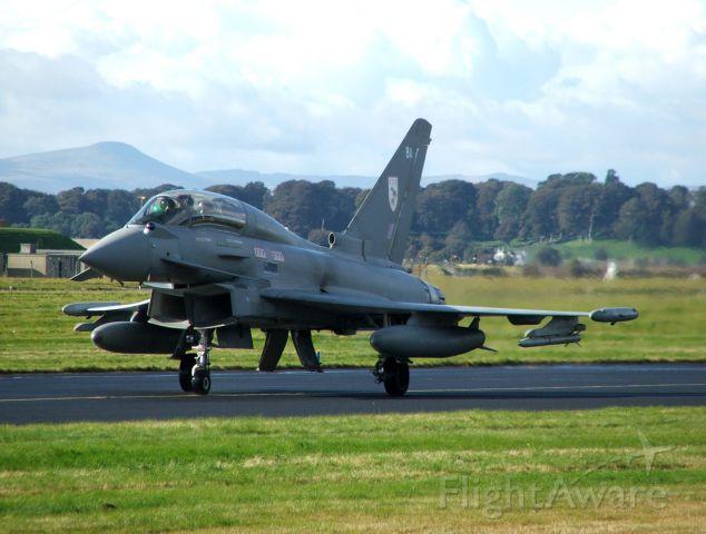 ZJ803 — - RAF Eurofighter ZJ803 at RAF Leuchars 3/10/12