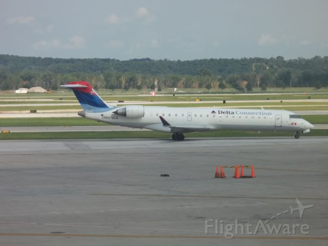Canadair Regional Jet CRJ-700 (N376CA) - Delta or expressjet 4970 at 357pm from Atlanta on August 7 2011 Im glad they decided in 2013 to switch to MD 88s but this was good when it lasted