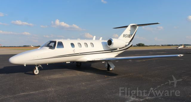 CORBY Starlet (N511BP) - A Cessna Citation 525 CJ1 on the general aviation ramp at Pryor Field Regional Airport, Decatur, AL - September 22, 2016.