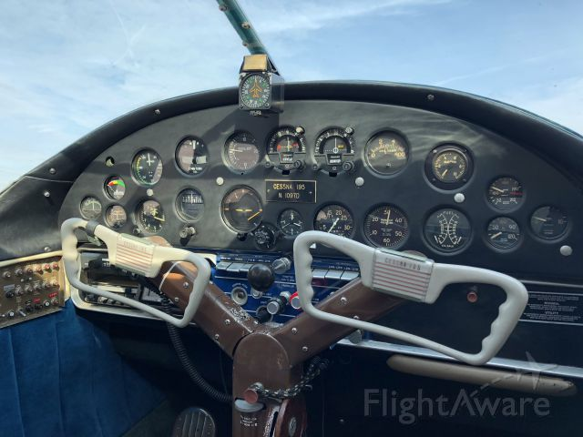 Cessna LC-126 (N1097D) - The flight deck of N1097D, this is an incredible Cessna 195, photo taken Dec 23rd, 2017 at Hollister, CA (KCVH).