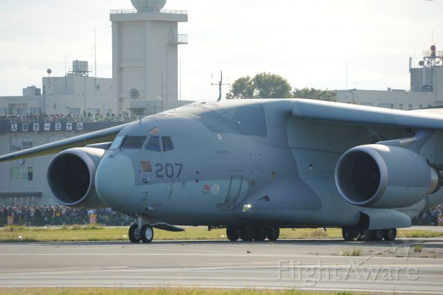 88-1207 — - 3.Nov.2018<br />This aircraft is the latest C-2 transport aircraft of the Japan Air Self Defense Force.<br />The aircraft is made by Kawasaki Heavy Industries.