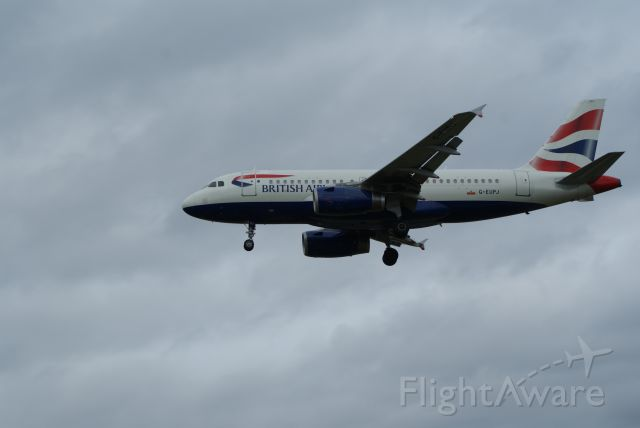 Airbus A310 (G-EUPJ) - British Airways A319-131 on finals rwy 27L