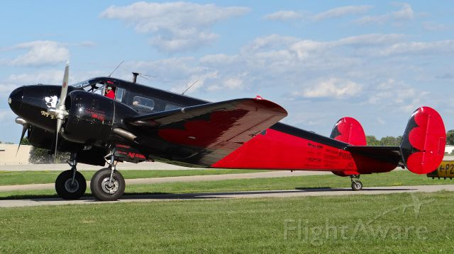 Beechcraft 18 (N9109R) - Matt Younkins Beech 18 taxing to the ramp at AirVenture 2015!