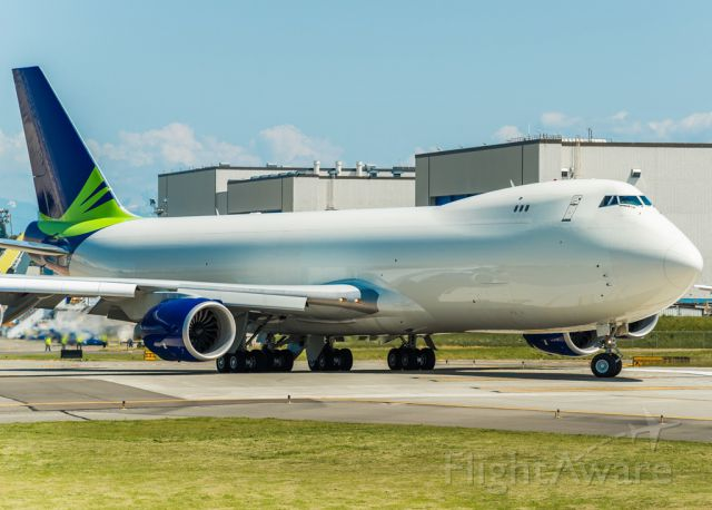Boeing 747-200 (N770BA) - BOE53: The Seattle Seahawks logo was removed from this Boein 747-8 freighter