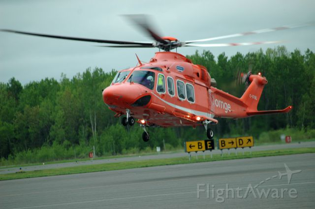 BELL-AGUSTA AB-139 (C-GYNL) - 2010 Agusta-Westland AW-139 (41238) landing at Peterborough Airport (May 28, 2019