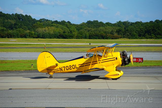 WACO OHIO YMF (N7020L) - This aircraft is stationed out of PDK airport.  Usually it has a solo pilot, or sometimes a passenger in the rear.  It is loud!
