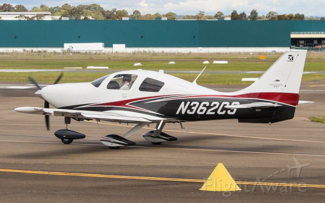 Cessna TTx (N362CS) - Brand new Cessna TTx taxiing along alpha to Runway 29C for a Departure to Essendon YMEN