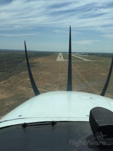 Cessna Skyhawk (A2-SKY) - On Short Final for Runway 08.