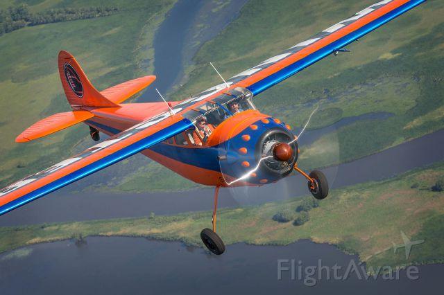 Cessna LC-126 (N3050B) - Flying around the lakes near Oshkosh Wisconsin