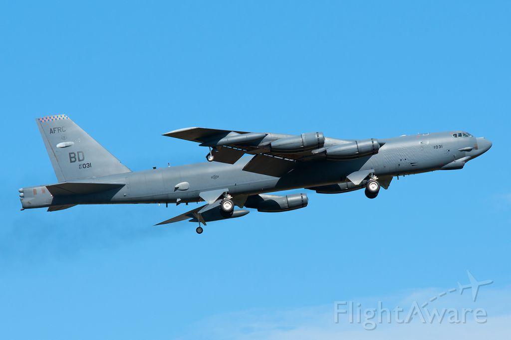 61-0031 — - Boeing B-52 H Stratofortressbr /United States - US Air Force (USAF)br /Czech Republic: Ostrava - Mosnov (OSR LKMT)