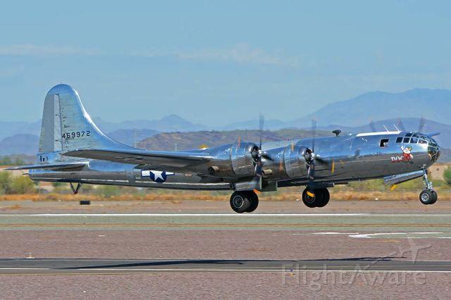 Boeing B-29 Superfortress (N69972) - Boeing B-29 Superfortress N69972 Doc made one revenue flight at Phoenix Deer Valley Airport on September 17, 2019.