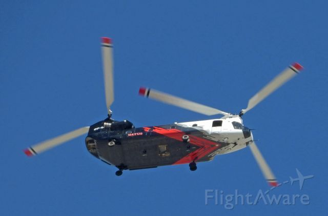 Boeing CH-47 Chinook (N47CU) - Transitioning across Carson City on the way to Fresno