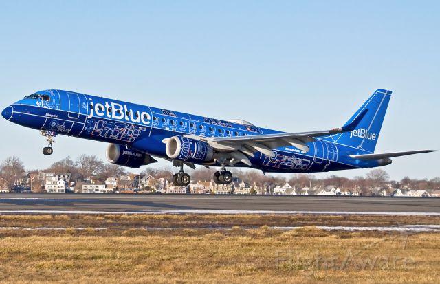 "Embraer ERJ-190 (N304JB) - Blueprint Special Livery RWY27 arrival <br /><a rel=""nofollow"" href=""http://www.usatoday.com/story/travel/flights/todayinthesky/2017/02/21/jetblue-rolls-out-special-blueprint-livery-embraer-e190/98187516/"">http://www.usatoday.com/story/travel/flights/todayinthesky/2017/02/21/jetblue-rolls-out-special-blueprint-livery-embraer-e190/98187516/</a>"