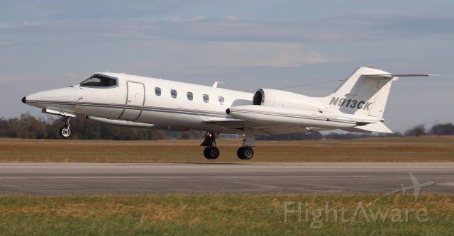Learjet 35 (N913CK) - A Kalitta Charters Gates Lear Jet 35 departing Pryor Regional Airport, Decatur, AL, via Runway 36 - November 15, 2019.