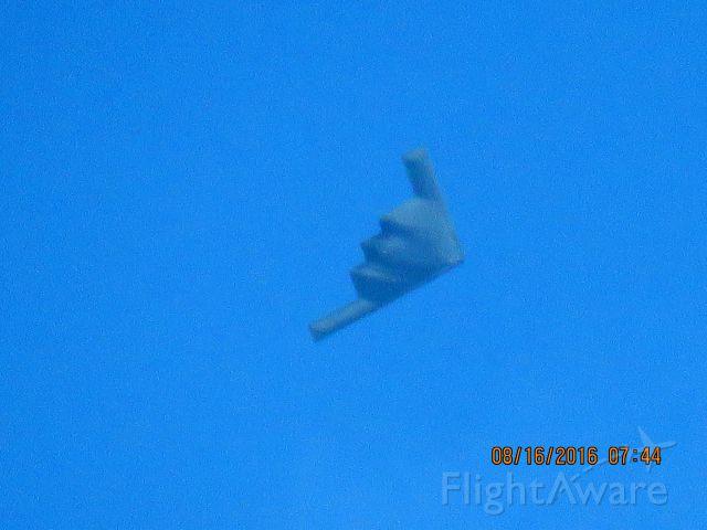 Northrop Spirit (88-0332) - Flying down the Missouri Kansas State line..