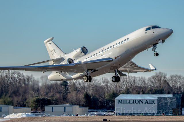 Dassault Falcon 8X (N444FJ) - A brand new Falcon 8x departing for Utah