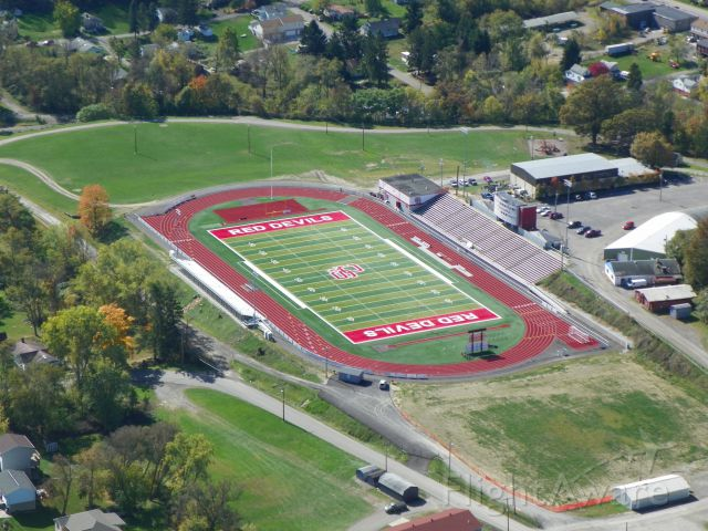 Cessna Skyhawk (N2511L) - Red Devil Stadium with the new artificial surface.