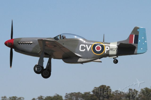 North American P-51 Mustang (VH-JUC) - Take off at warbirds show 11.15