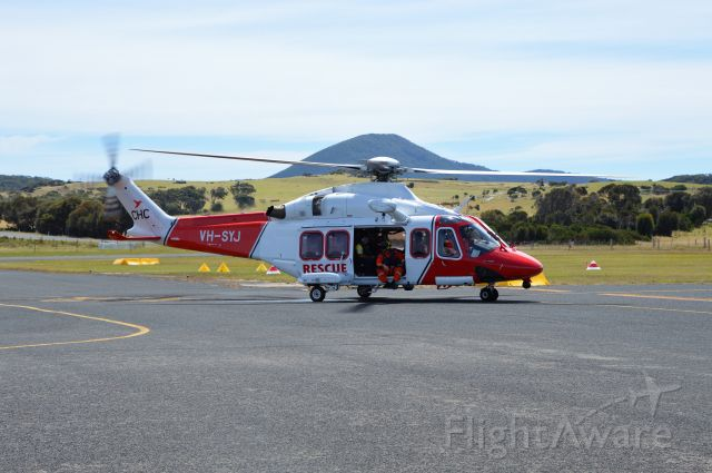 BELL-AGUSTA AB-139 (VH-SYJ) - CHC Helicopters AW139 at Flinders Island, Feb,2021
