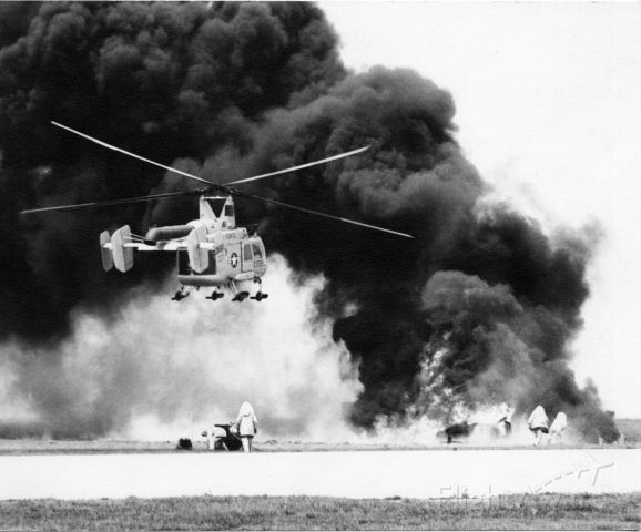 — — - Fire suppression exercise at MacDill AFB 1967.