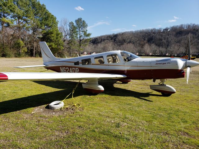 Piper Saratoga (N624DP) - First soft-field landing on the grass strip at Gaston's White River Resort in Arkansas.