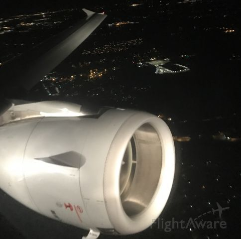 — — - Clear night and clean window departing Charlotte. Seated in 8Abr /Image taken with IPhone 7