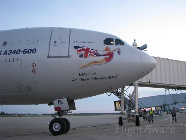 Airbus A340-600 (GWIN) - European Ryder Cup Charter at RFD