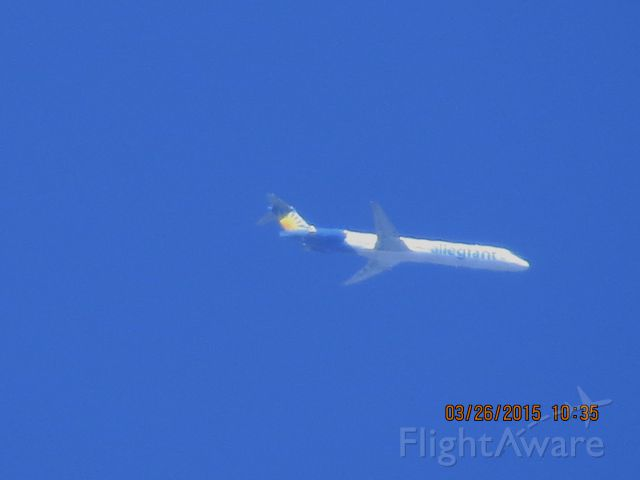 McDonnell Douglas MD-88 (N402NV) - Allegiant Air flight 116 from AZA to SFG over Southeastern Kansas at 24,000 feet.