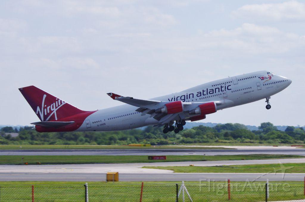 Boeing 747-400 (G-VROS) - Virgin Atlantic 747 manchester Aiirport 14 June 2011