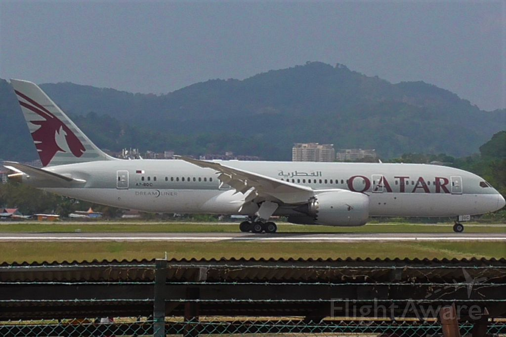 Boeing 787-8 (A7-BDC) - Qatari 787 from Doha. Now flying three times weekly to Penang Island.