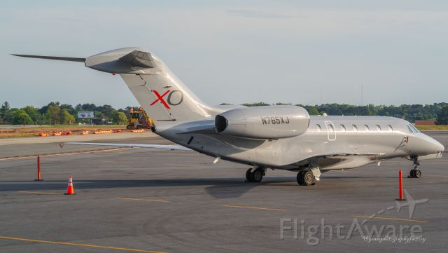 Cessna Citation X (N765XJ) - Photographed from the observation platform after landing at PDK airport.