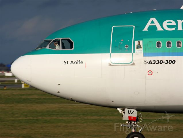 """Airbus A330-300 (EI-DUZ) - Operating as the """"Shamrock 125"""" bound for Chicago, IL"""