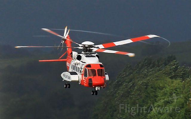 Sikorsky Helibus — - irish coast guard s-92 dep shannon 11/9/13.