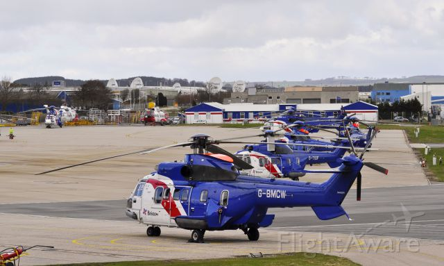 TUSAS Cougar (G-BLXR) - Bristow Helicopters AS-332L Super Puma G-BLXR in Aberdeen Dyce Airport