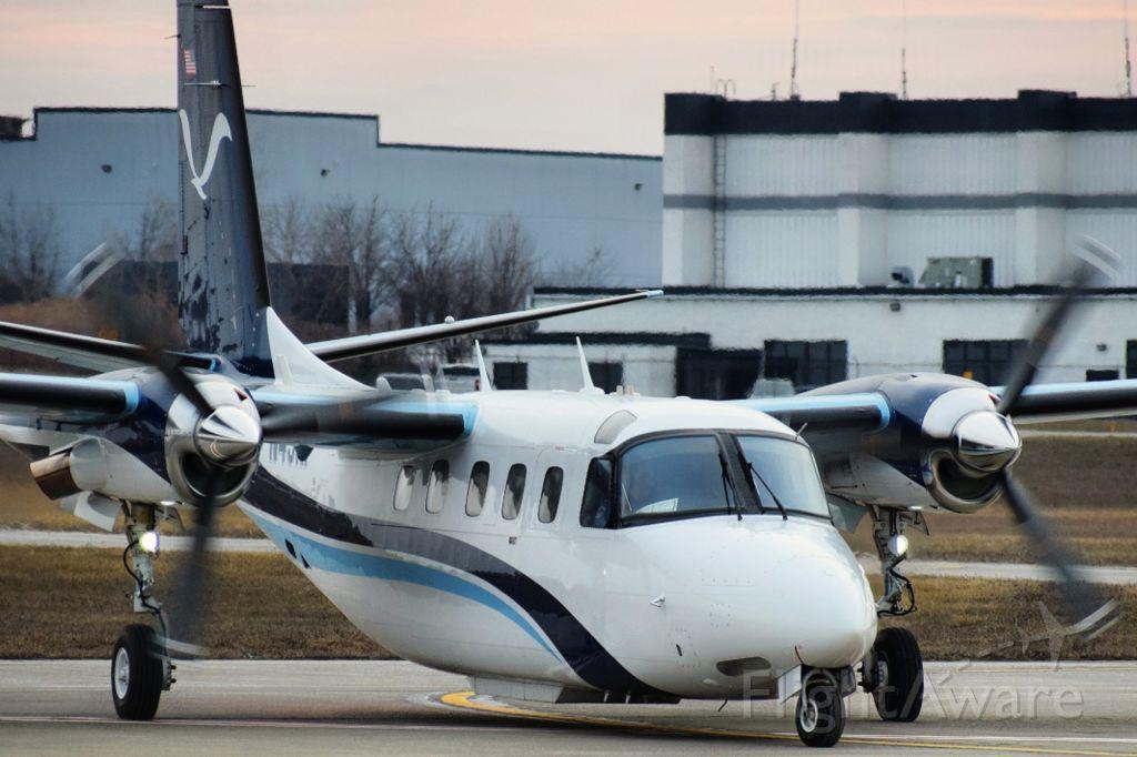 "Gulfstream Aerospace Jetprop Commander (N45RF) - N45RF arriving into the FBO ramp at the Buffalo Niagara International Airport from Rome NY (KRME) as ""NOAA 45"""