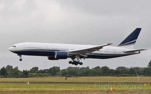 Boeing 777-200 (N777UK) - polaris aviation solutions b777-212er n777uk landing at shannon from monaco 18/6/18.