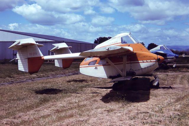 Vans RV-4 (VH-EVH) - TRANSAVIA PL-12 AIRTRUK - REG : VH-EVH (CN G350) - ALBURY NSW. AUSTRALIA - YMAY (28/10/1980)35MM SLIDE CONVERSION USING A LIGHTBOX AND A NIKON L810 DIGITAL CAMERA IN THE MACRO MODE