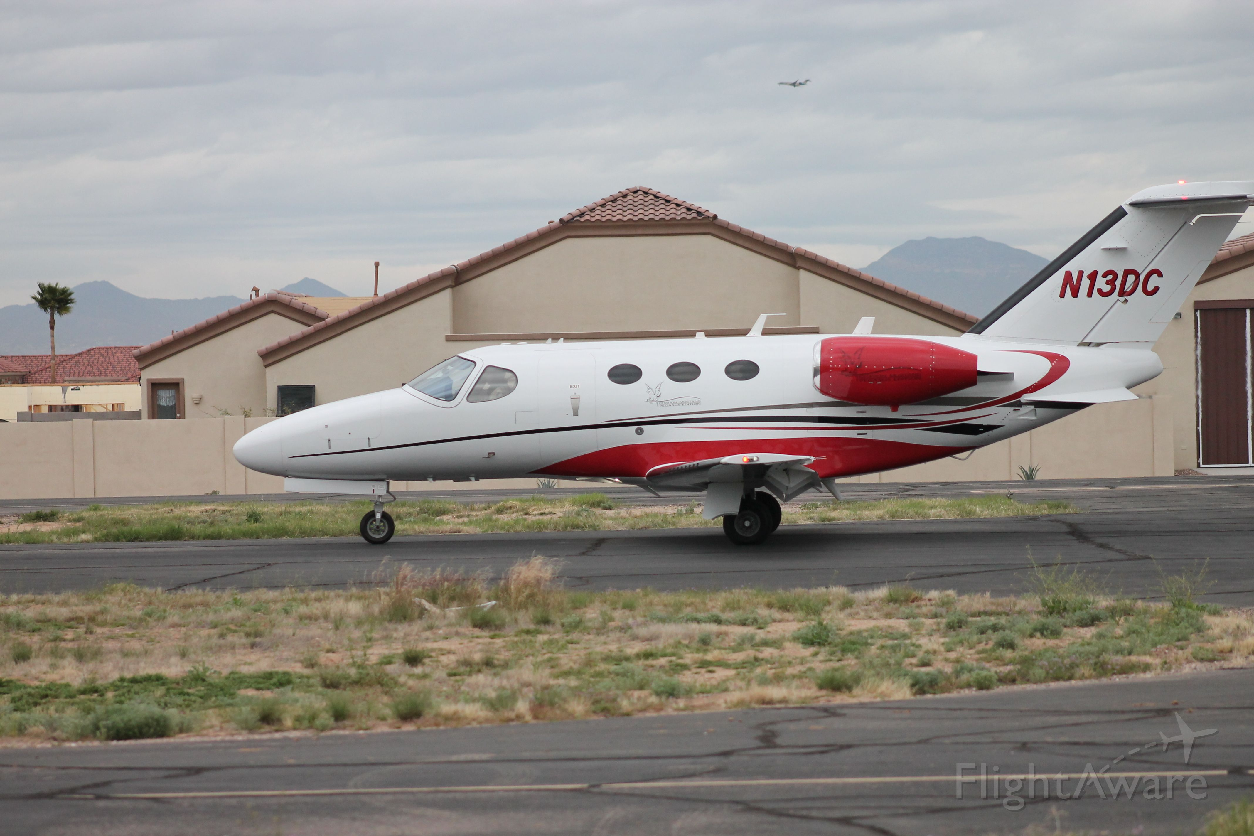Cessna Citation Mustang (N13DC) - My backyard Pegasus Airpark