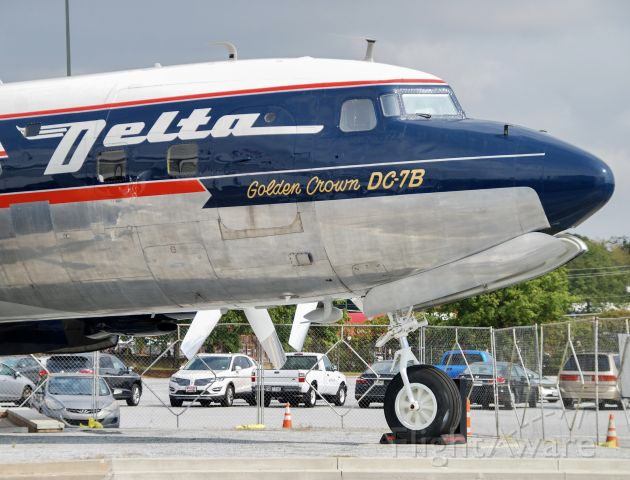 Douglas DC-7 (N4887C) - The recently restored Delta DC-7 on display at the Delta Flight Museum.  10/2/2021.