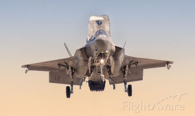 """16-9169 — - """"Nose to Nose with a hovering F-35B Lightning II""""br /VMFAT-501br /Marine Fighter Attack Training Squadron 501 is a training squadron in the United States Marine Corps, consisting of 28 F-35B Lightning II aircraft and serves as the Fleet Replacement Squadron. Known as the """"Warlords,"""" the squadron is based at Marine Corps Air Station Beaufort, South Carolina and falls administratively under Marine Aircraft Group 31 and the 2nd Marine Aircraft Wing."""