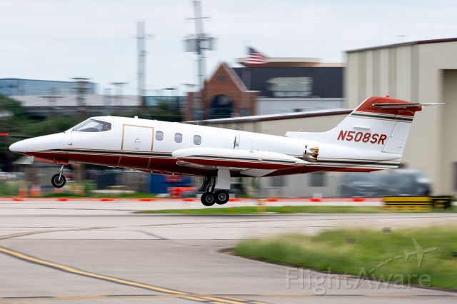 Learjet 24 (N508SR) - Whoever owns this 1977 Lear 24 that I watched scream out of Addison, TX this morning, I salute you! Was wonderful to hear what airplanes are supposed to sound like again! Those little honeycomb hushkits can only suppress so much GE CJ610 fury..