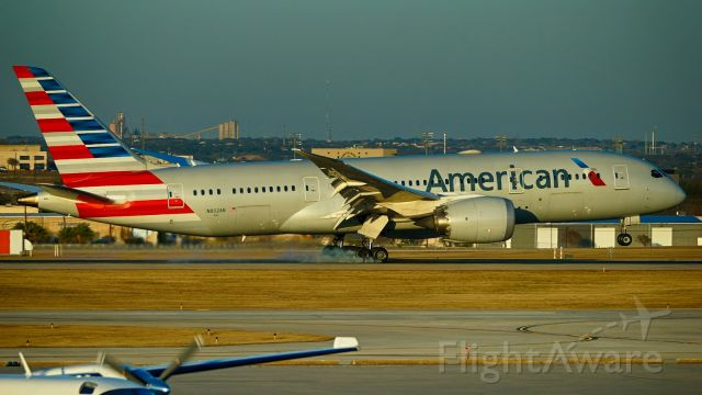 Boeing 787-8 (N802AN) - 13R arrival just before sunset.